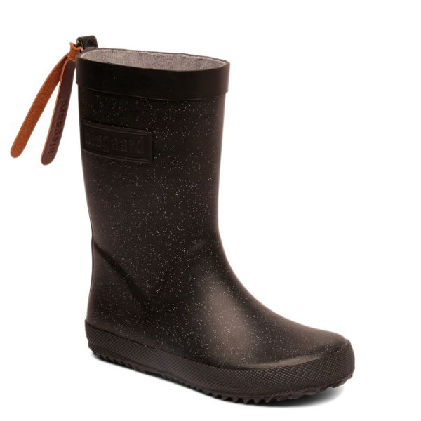 new style 91299 a1342 Bisgaard kids rubber boot with glitter black
