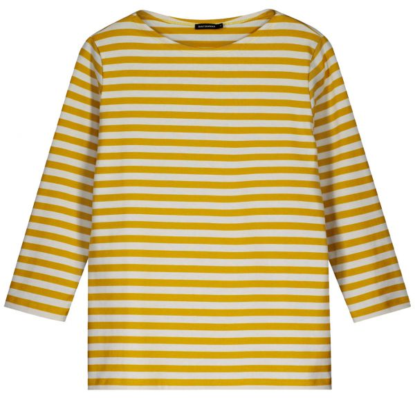 52e32051e Marimekko Tasaraita Ilma T-Shirt dark yellow. off white limi ...