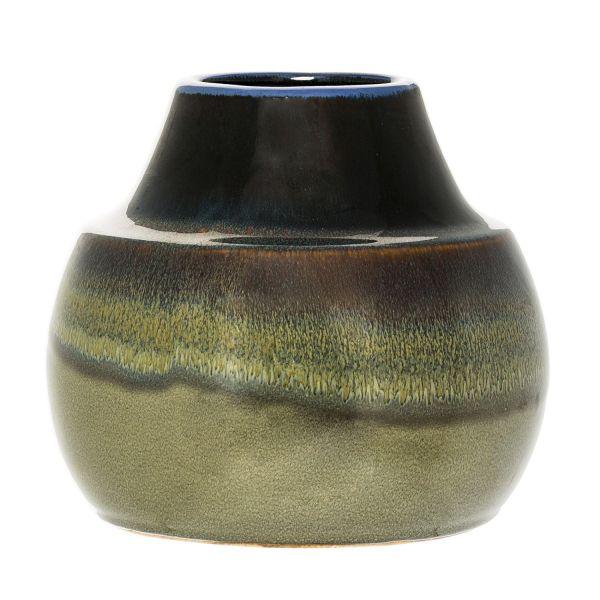 Bloomingville Vase Green Height 18 Cm Scandinavian Lifestyle